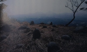 Stone circle at the top of Mt Komekamiyama
