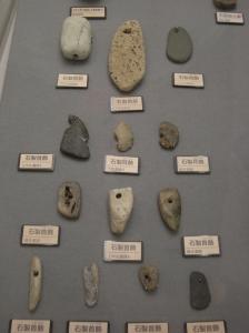 Jomon pendants of various stone (Sagamihara City Museum)