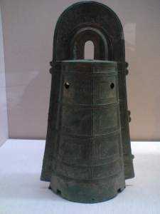 Bronze bell (dotaku) from Kobe city (exhibit of the Tokyo National Museum)