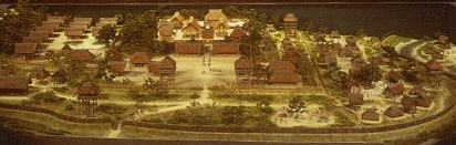 Model of Himiko's headquarters (imaginary), Osaka Prefectural Museum of Yayoi Culture