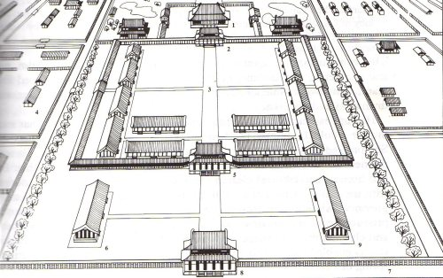 A reconstruction of the layout Fujiwara-kyo (Richard J. Pearson)