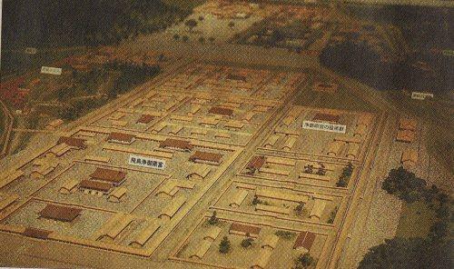 A model of Asuka Kiyomihara no Miya palace and other structures (The Daily Yomiuri)