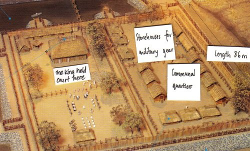 A model of residences and storehouses at Mitsudera