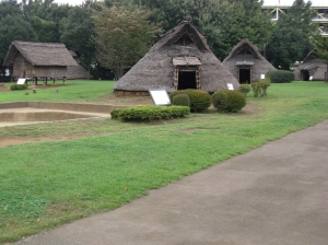 The villagers inside the fortified village lived in thatched homes not unlike the pit-homes of the earlier Jomon settlements