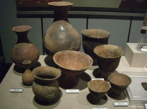 Assorted pottery from the site