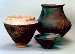 Tempest in an clay pot. New radiocarbon dating of food residue from Japanese pottery similar to that shown here could rewrite Japanese history.