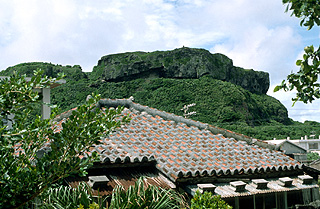 Sanai-Isoba is said to have lived on top of the rocky hill top