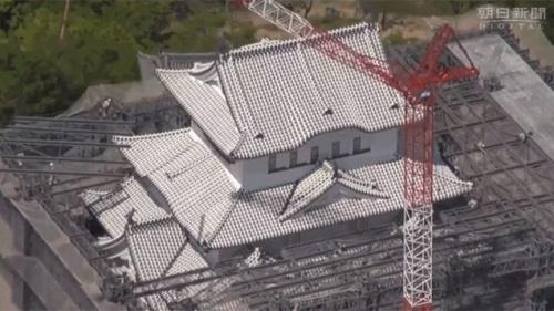 Restoration of all-white tiled roofing