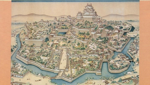 Himeji Castle at the centre of the feudal domain prevailed for three centuries