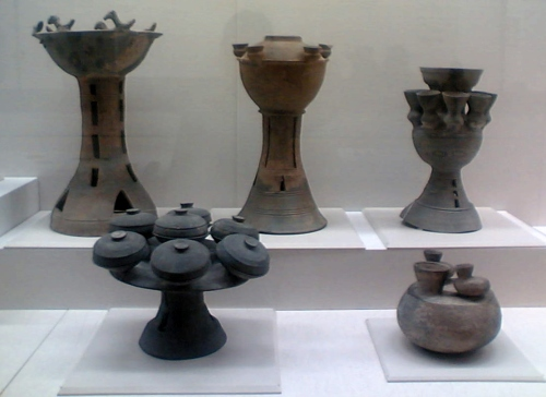 Assorted funerary ornamental grave goods from Kofun tumuli