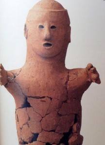 Male servant (slave?) haniwa terracotta, Minami-hatori-shoufukuji no. 1 Kofun, Narita city, Chiba pref.