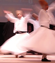 Dancing dervishes of the Sufi