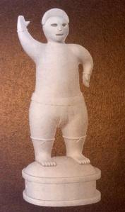Haniwa terracotta figurine of wrestler (come to entertain the court)