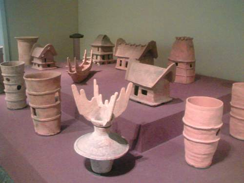 Assorted haniwa figurines