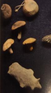 "Ceramic mushroom ""amulets""?, ritual implements, Rokaku-shi, Akita prefecture"