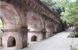 Suirokaku Aqueduct, Biwasosui River, Kyoto, 1890