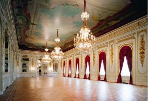 Inside: Stunning and sumptuous staterooms like this ballroom