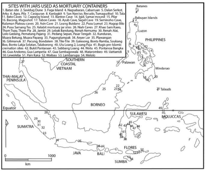 Burial Jar Map Indon Malayan